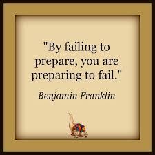 Ben Franklin Preparing to Fail